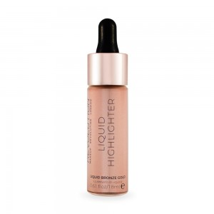 Makeup Revolution Liquid Highlighter Rozświetlacz w Płynie Bronze Gold 18 ml