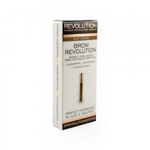 Makeup Revolution Brow Revolution Żel do brwi Soft Brown 3.8 g