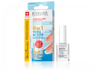 Eveline Nail Therapy Lakier odżywka Total Action 8w1 Sensitive 12 ml