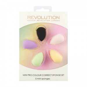 Makeup Revolution Mini Pro Colour Correct Sponge Set Zestaw mini gąbek do makijażu