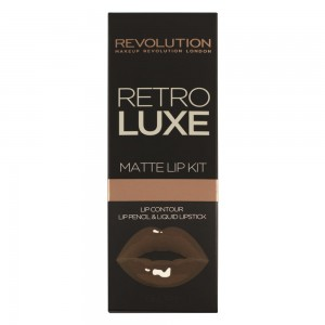 Makeup Revolution Retro Luxe Matte Lip Kit Zestaw pomadka + konturówka Glory