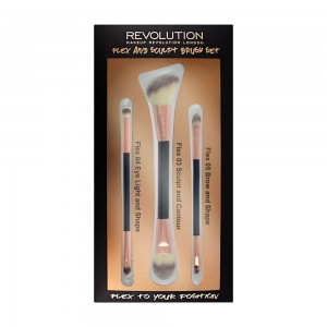 Makeup Revolution Brush Flex & Sculp Brush Set Zestaw pędzli do makijażu