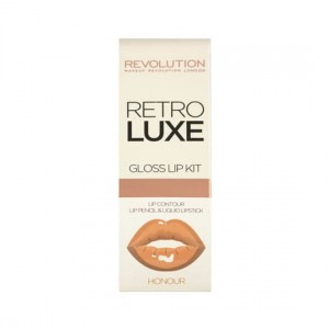 Makeup Revolution Retro Luxe Gloss Lip Kit Zestaw do ust Honour