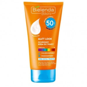 Bielenda Bikini Krem do twarzy SPF 50 Matt Look 50 ml