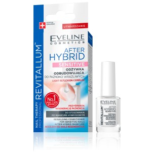 Eveline Nail Therapy Revitallum Odżywka do paznokci odbudowująca After Hybrid Sensitive 12 ml