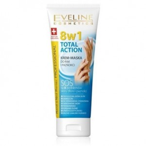 Eveline Total Action 8w1 Krem maska do rąk i paznokci 75 ml