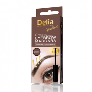 Delia Kremowa maskara do brwi Brąz 4 ml