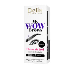 Delia My Wow Brows henna do brwi nr 1.0 Czarna 6 ml