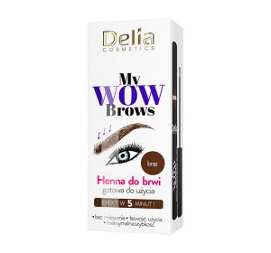 Delia My Wow Brows henna do brwi nr 4.0 Brązowa 6 ml