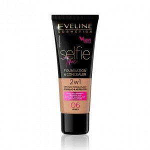 Eveline Selfie Time Podkład & korektor 2w1 06 Honey 30 ml