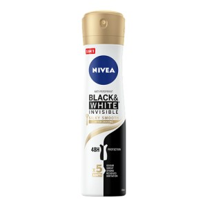 Nivea Black & White Invisible Silky Smooth Dezodorant w spayu 150 ml