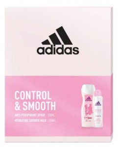 Adidas Zestaw Control & Smooth Women dezodorant  150 ml + żel pod prysznic 250 ml