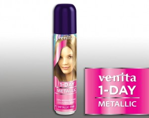 VENITA 1 Day Color Spray jednodniowy Metalic Pink