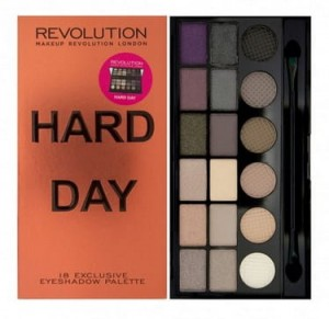 Makeup Revolution Hard Day Paleta Cieni do Powiek