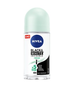 Nivea Black & White Invisible Fresh Antyperspirant w kulce 50 ml
