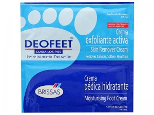 DEOFEET Peeling do stóp i Krem nawilżający do stóp 9,5+10,5 ml