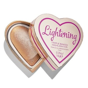 Makeup Revolution I Heart Revolution Lightening Rozświetlacz Glow Hearts Luminous 10 g
