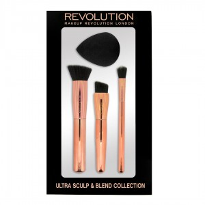 Makeup Revolution Ultra Sculpt & Blend Collection Zestaw Pędzli z Gąbką