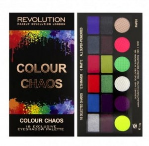 Makeup Revolution Colour Chaos Paleta Cieni do Powiek