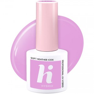 Hi Hybrid #206 Lakier Hybrydowy Soft Heather 5 ml