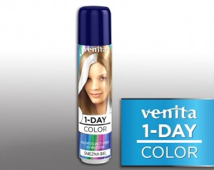 VENITA 1 Day Color Spray jednodniowy Śnieżna Biel